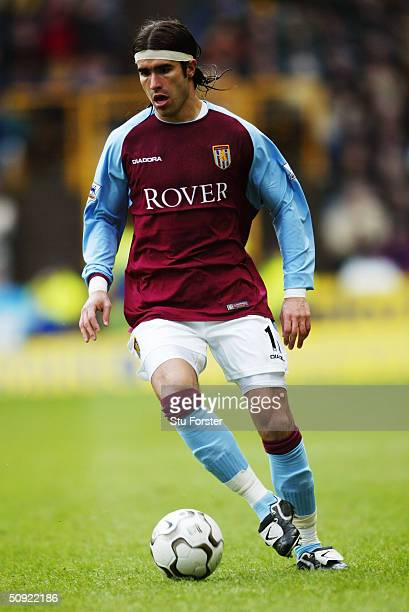 Juan Pablo Angel of Aston Villa during the FA Barclaycard Premiership match between Wolverhampton Wanderers and Aston Villa at The Molineux on March...