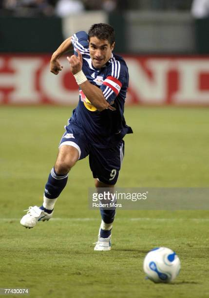 Juan Pablo Angel of the New York Red Bulls during the match against the Los Angeles Galaxy on October 18, 2007 at Home Depot Center in Carson,...