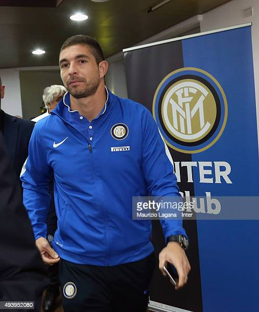 Juan Pablo Carrizo attends at meeting between FC Internazionale Milano players and fans at Astoria Hotel on October 23 2015 in Palermo Italy