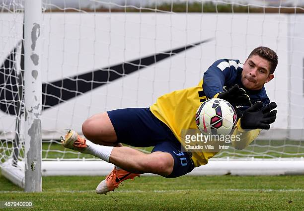 Juan Pablo Carrizo during FC Internazionale Training Session at Appiano Gentile on October 27, 2014 in Como, Italy.