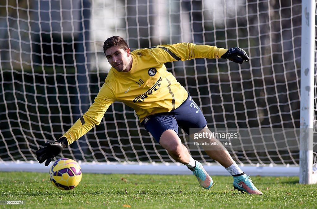 Juan Pablo Carrizo during FC Internazionale Training Session at Appiano Gentile on November 19, 2014 in Como, Italy.