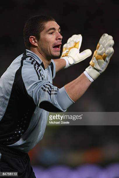Juan Pablo Carrizo of Argentina during the International Friendly match between France and Argentina at the Stade Velodrome on February 11 2009 in...