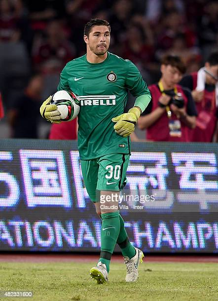 Juan Pablo Carrizo of FC Internazionale in action during the International Champions Cup match between AC Milan and FC Internazionale on July 25 2015...