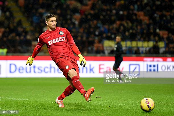 Juan Pablo Carrizo of FC Internazionale in action during the TIM Cup match between FC Internazionale Milano and UC Sampdoria at Stadio Giuseppe...