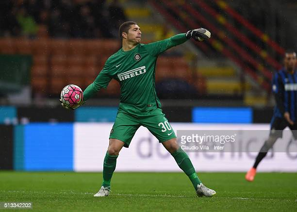 Juan Pablo Carrizo of FC Internazionale in action during the TIM Cup match between FC Internazionale Milano and Juventus FC at Stadio Giuseppe Meazza...