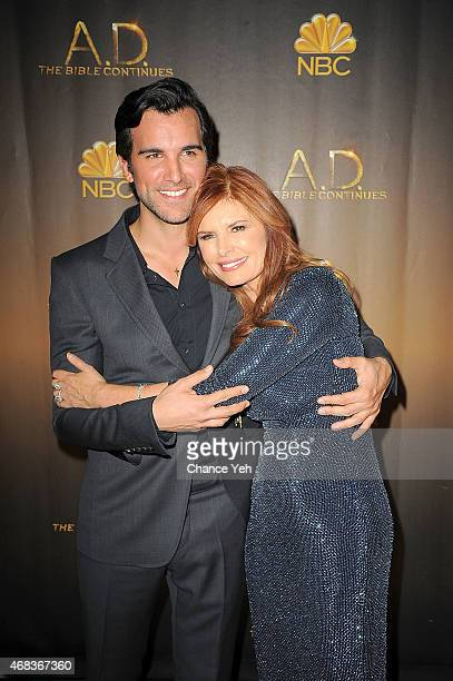 Juan Pablo Di Pace and Roma Downey attend 'AD The Bible Continues' New York Premiere Reception at The Highline Hotel on March 31 2015 in New York City