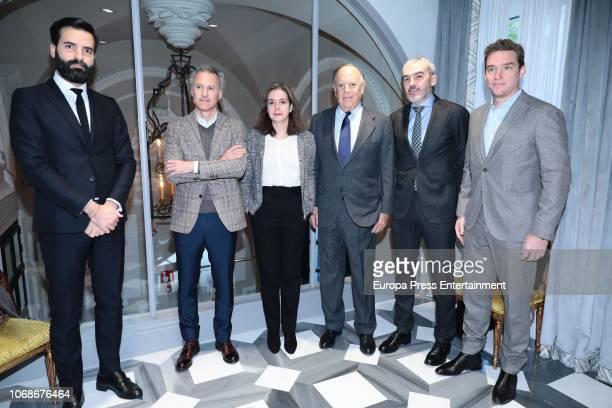 Juan Pablo Garcia, Moises Chocron, Lourdes Garzon, Carlos Falco, Javier Fernandez Andrino amd Alexander Wit attend the meeting of Circulo Fortuny at...