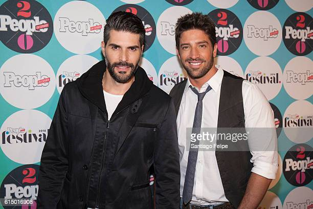 Juan Pablo Llano and David Chocarro attend the 5th Annual Festival People en Espanol at The Jacob K Javits Convention Center on October 15 2016 in...
