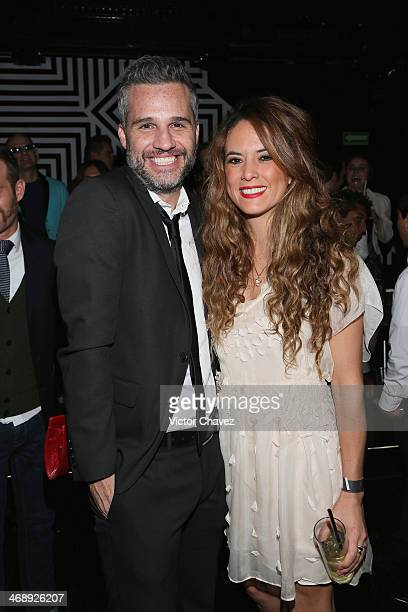 Juan Pablo Medina and Jimena Carranza attend the Casese Quien Pueda cocktail party at Gravity Polanco on February 11 2014 in Mexico City Mexico