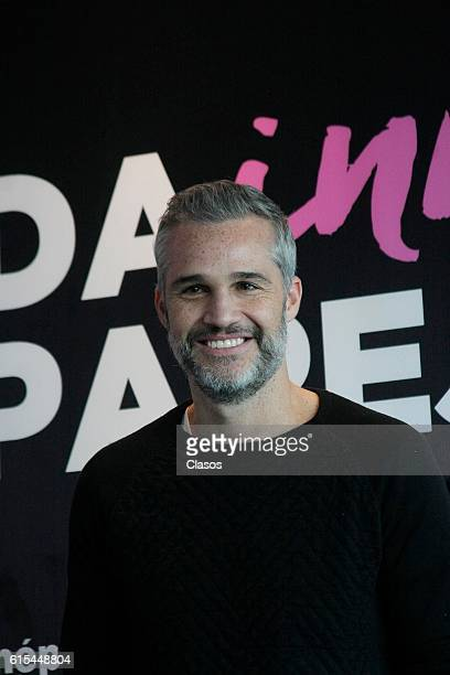 Juan Pablo Medina poses during the presentation of the movie 'La Vida Inmoral de la Pareja Ideal' on October 17 Mexico City Mexico