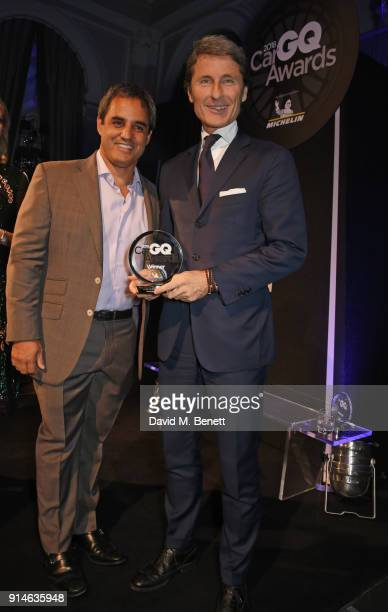 Juan Pablo Montoya and Stephan Winkelmann attend the GQ Car Awards 2018 in association with Michelin at Corinthia London on February 5 2018 in London...