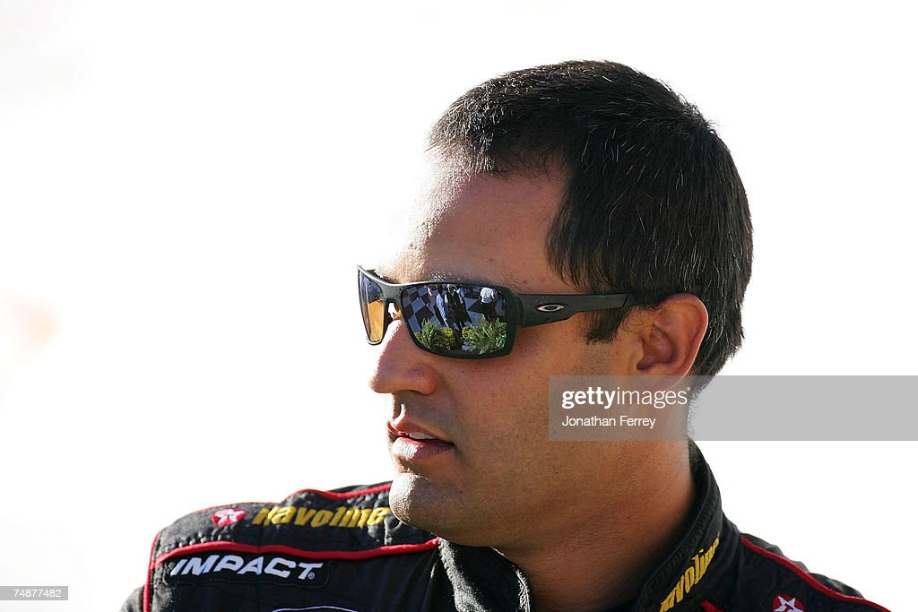 Juan Pablo Montoya, driver of the #42 Texaco/Havoline Dodge, celebrates in the winner's circle, after winning the NASCAR Nextel Cup Series Toyota/Save Mart 350 at Infineon Raceway on June 24, 2007 in Sonoma, California.