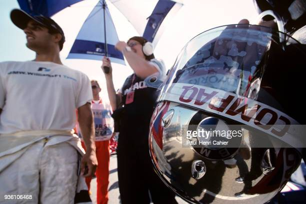 Juan Pablo Montoya Grand Prix of Italy Autodromo Nazionale Monza 16 September 2001 Juan Pablo Montoya on the starting grid of the 2001 Italian Grand...
