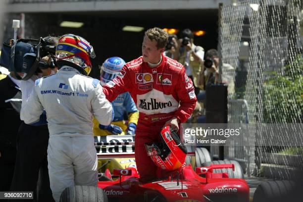 Juan Pablo Montoya Michael Schumacher OR Ralf Schumacher Ferrari F2002 Grand Prix of Monaco Circuit de Monaco 26 May 2002 Michael Schumacher...