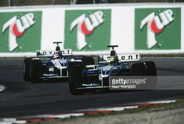 Juan Pablo Montoya of Colombia and BMWWilliams in action during the Formula One Winter Testing held on January 22 2003 at the Circuit de Catalunya in...