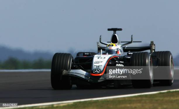 Juan Pablo Montoya of Colombia and McLaren in action during practice before qualifying for the Formula One Turkish Grand Prix at Istanbul Park on...