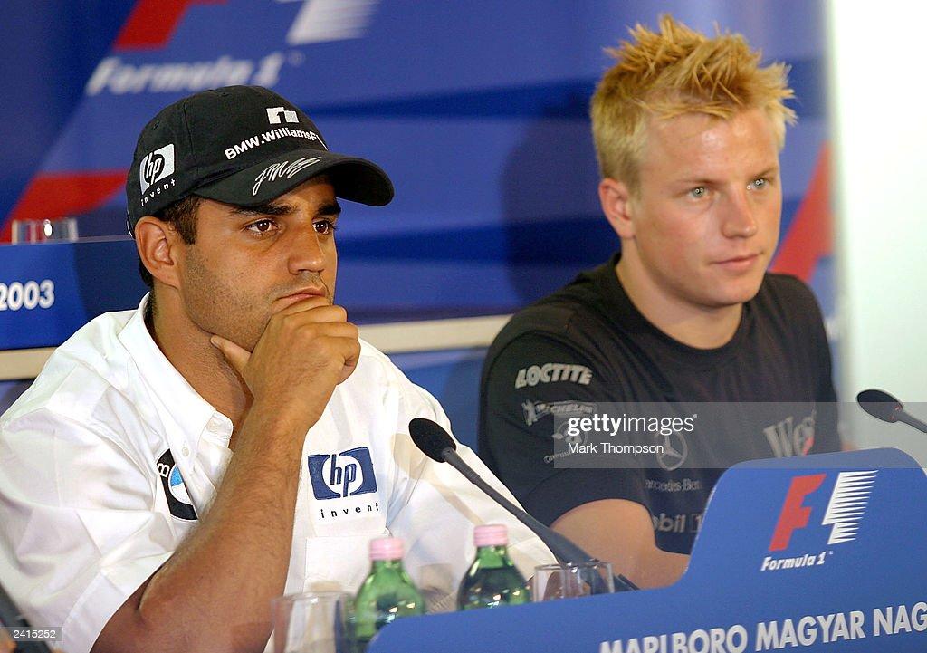 Juan Pablo Montoya and Kimi Raikkonen : News Photo