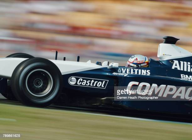 Juan Pablo Montoya of Colombia drives the BMW Williams F1 Team Williams FW23 BMW V10 the Formula One German Grand Prix on 29 July 2001 at the...