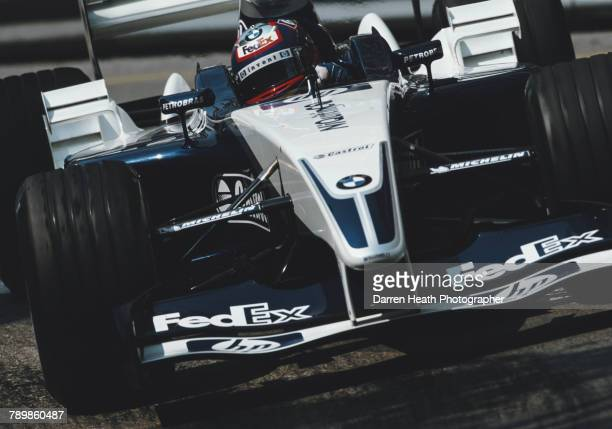 Juan Pablo Montoya of Colombia drives the BMW Williams F1 Team Williams FW25 BMW V10 during the Formula One Monaco Grand Prix on 1 June 2003 at the...