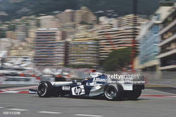 Juan Pablo Montoya of Colombia drives the BMW Williams F1 Team Williams FW26 BMW V10 during the Formula One Monaco Grand Prix on 23 May 2004 at the...