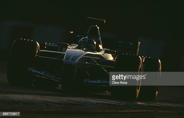 Juan Pablo Montoya of Colombia drives the BMW WilliamsF1 Team Williams FW23 BMW V10 during Formula One Testing on 15 January 2003 at the Circuit de...