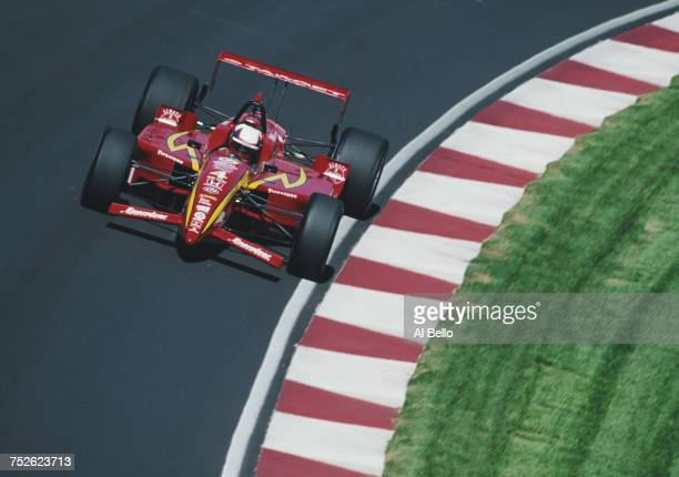 Juan Pablo Montoya of Colombia drives the Target Chip Ganassi RacingReynard 99i Honda during practice for the Championship Auto Racing Teams 1999...