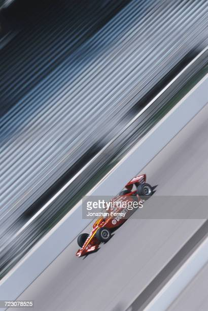 Juan Pablo Montoya of Colombia drives the Target Chip Ganassi Racing GForce GF05a Oldsmobile during practice for the 2000 Indy Racing League Northern...