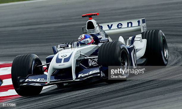 Juan Pablo Montoya of Columbia and BMW Williams in action during the 2004 Malaysian F1 Grand Prix on March 21 at the Sepang Circuit in Kuala Lumpur,...