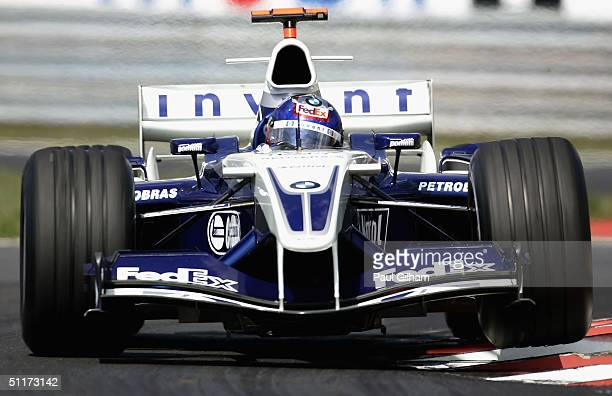 Juan Pablo Montoya of Columbia and BMW Williams in action during the Hungarian F1 Grand Prix at the Hungaroring Circuit on August 15 in Budapest,...