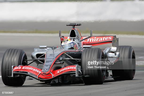 Juan Pablo Montoya of Columbia and McLaren-Mercedes in action during the European F1 Grand Prix at the Nurburgring on May 7 in Nurburg, Germany.