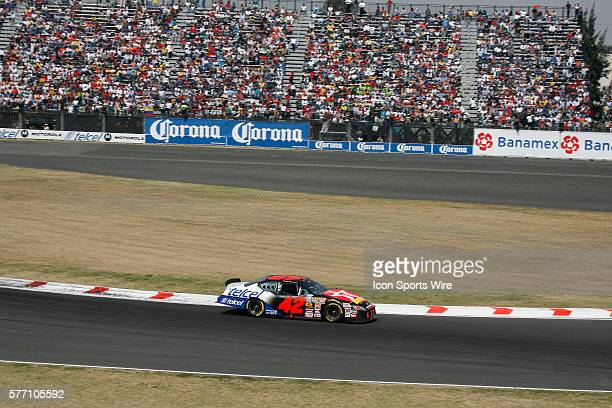 Juan Pablo Montoya on his way to winning the Telcel Motorola 200 NASCAR Busch Series at the Autodromo Hermanos Rodriguez in Mexico City, Mexico.