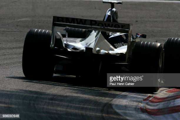 Juan Pablo Montoya WilliamsBMW FW24 Grand Prix of Italy Autodromo Nazionale Monza 15 September 2002 Juan Pablo Montoya on the way to pole position in...