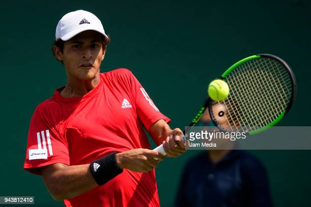 Juan Pablo Varillas of Peru during day two of the Davis Cup second round series between Mexico and Peru as part of the Group II of the American Zone...