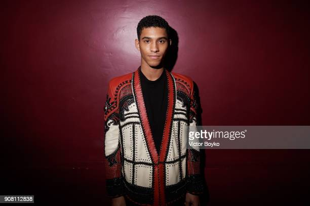 Juan Paolo Diaz attends the Balmain Homme Menswear Fall/Winter 20182019 aftershow as part of Paris Fashion Week on January 20 2018 in Paris France