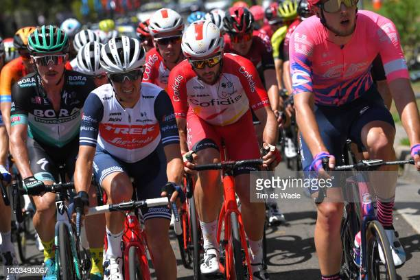Juan Pedro Lopez of Spain and Team Trek-Segafredo / Nathan Haas of Australia and Team Cofidis Solutions Credits / during the 6th Cadel Evans Great...
