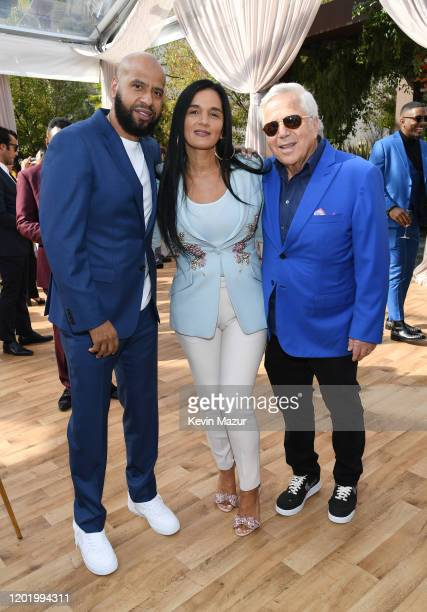 Juan Perez Roc Nation COO Desiree Perez and Robert Kraft attend 2020 Roc Nation THE BRUNCH on January 25 2020 in Los Angeles California