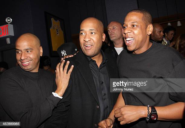 OG Juan Perez Wes and JayZ attend JayZ's Official Madison Square Garden Concert After Party at the 40 / 40 Club on March 2 2010 in New York City