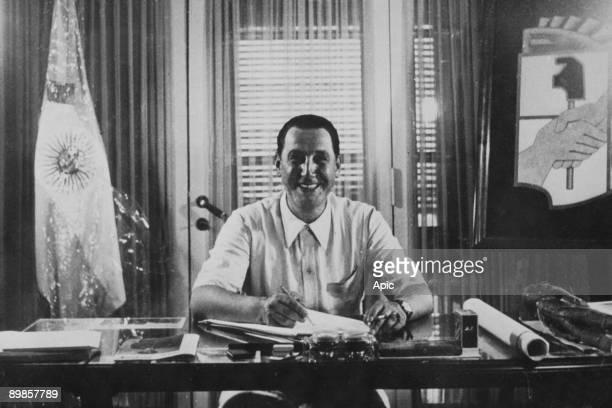 Juan Peron Argentine vicepresident 1944 and president 19461955