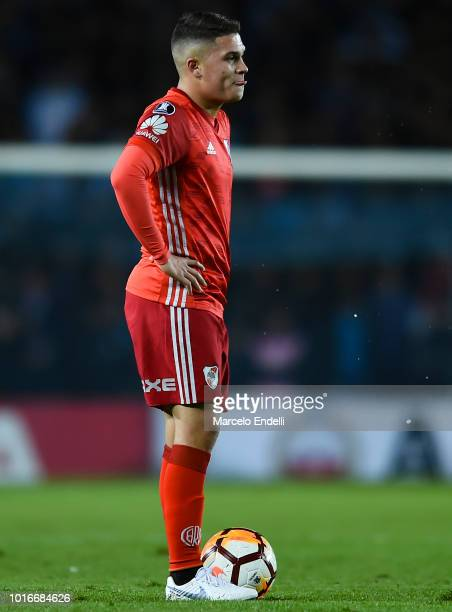 Juan Quintero of River Plate looks on during a round of sixteen first leg match between River Plate and Racing Club as part of Copa CONMEBOL...