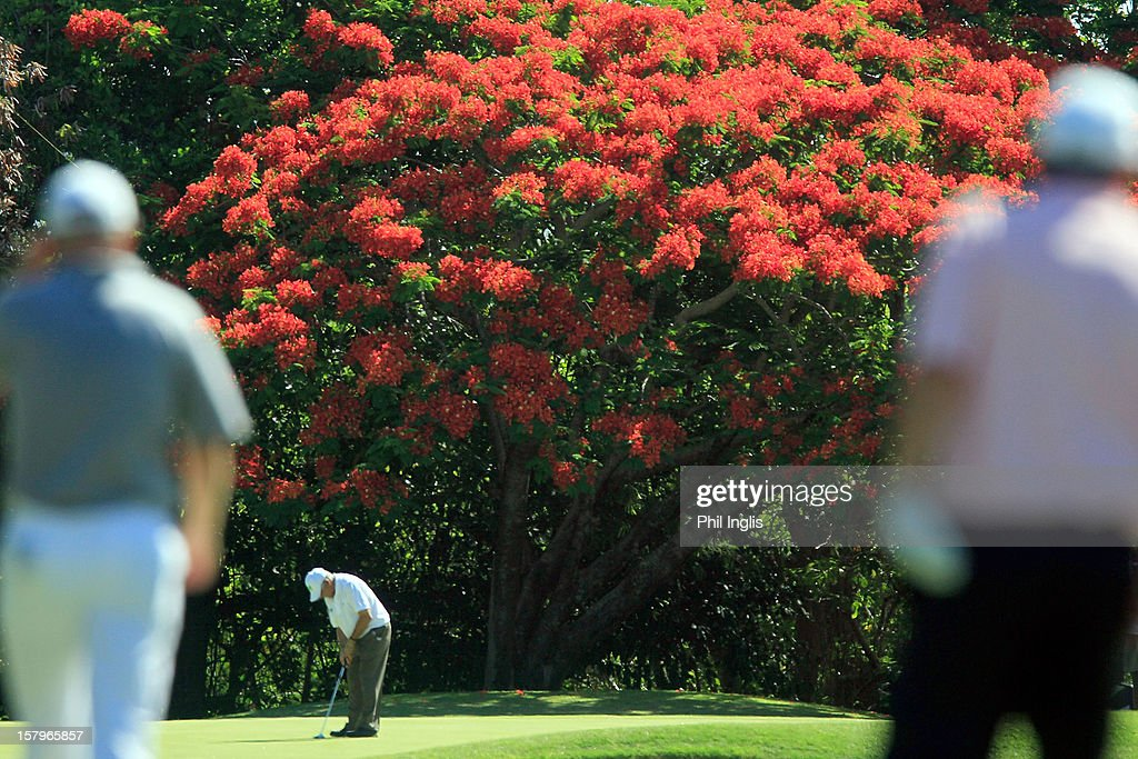 Juan Quiros of Spain putts on the 16th green during the second round of the MCB Tour Championship played at the Legends Course, Constance Belle Mare Plage on December 8, 2012 in Poste de Flacq, Mauritius.