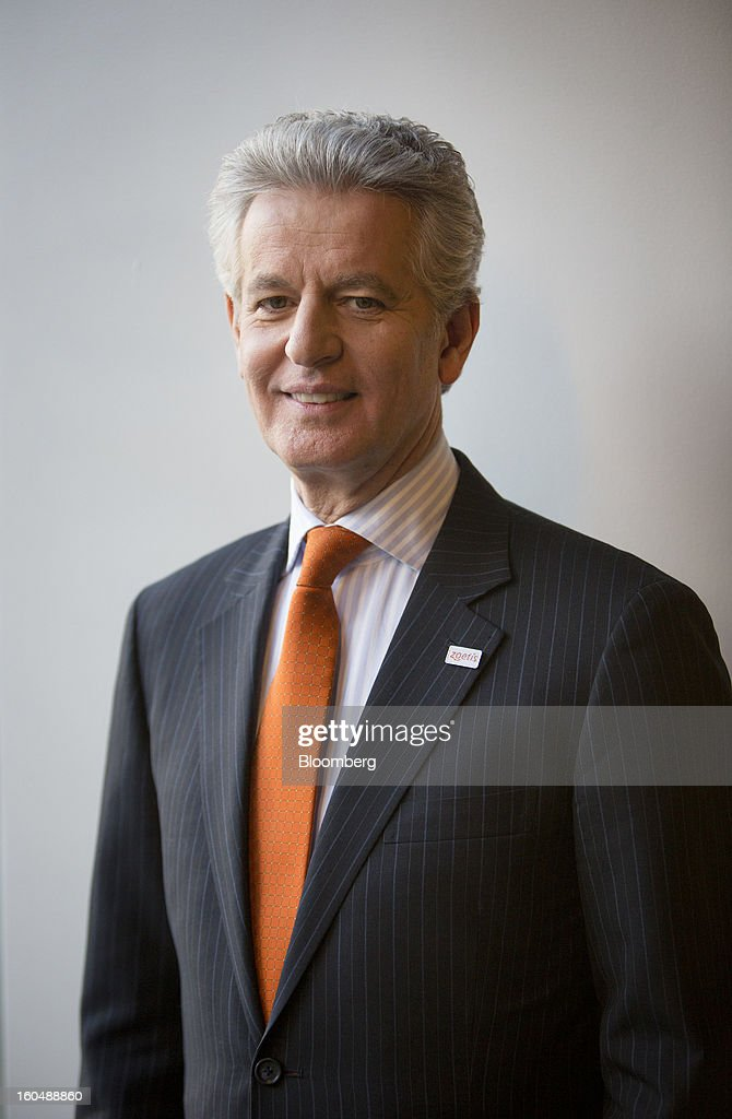 Juan Ramon Alaix, chief executive officer of Zoetis Inc., stands for a photograph in New York, U.S., on Friday, Feb. 1, 2013. Zoetis Inc., the animal-health company owned by Pfizer Inc., surged as much as 22 percent in its debut after raising $2.24 billion in its initial public offering, pricing the shares above the proposed price range. Photographer: Scott Eells/Bloomberg via Getty Images