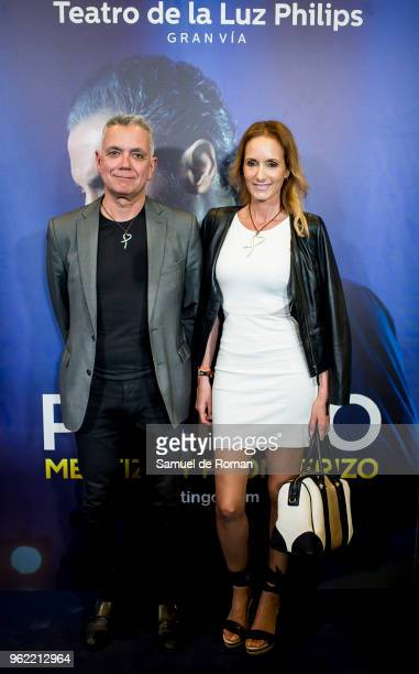 Juan Ramon Lucas and Sandra Ibarra attend 'Pitingo Mestizo Y Fronterizo' Madrid Premiere on May 24 2018 in Madrid Spain