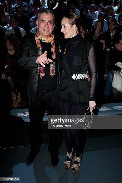 Juan Ramon Lucas and Sandra Ibarra attend the Francis Montesinos fashion show during the Cibeles Madrid Fashion Week A/W 2011 at Ifema on February 19...