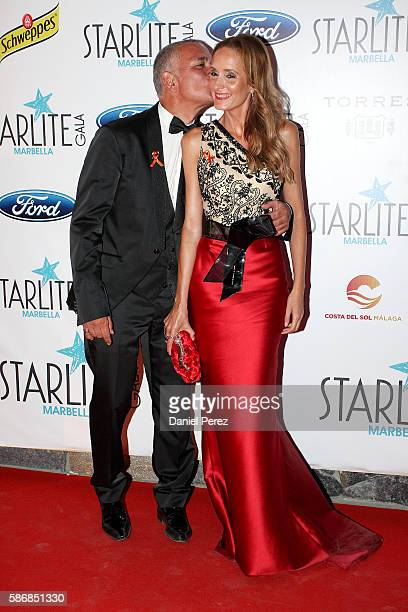 Juan Ramon Lucas and Sandra IbarraÊattend Starlite Gala on August 6 2016 in Marbella Spain