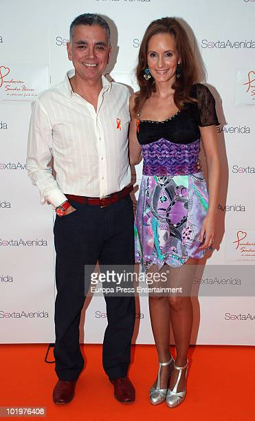 Juan Ramon Lucas and Sandra Ybarra attend the opening of the pictures exhibition 'Mujeres al natural' organized by Sandra Ybarra Foundation at Sexta...