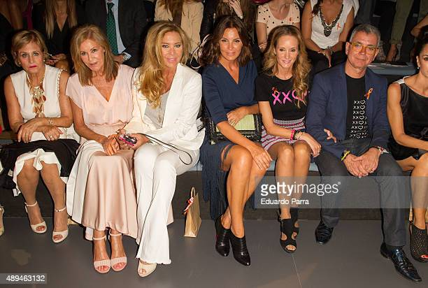 Juan Ramon Lucas Sandra Ibarra model Mar Flores and actress Norma Duval are seen attending MercedesBenz Fashion Week Madrid Spring/Summer 2015/16 at...