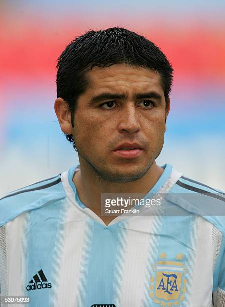 Juan Riquelme of Argentina at The FIFA Confederations Cup Match between Argentina and Tunisia at The Rhein Energy Stadium on June 15 2005 in Cologne...