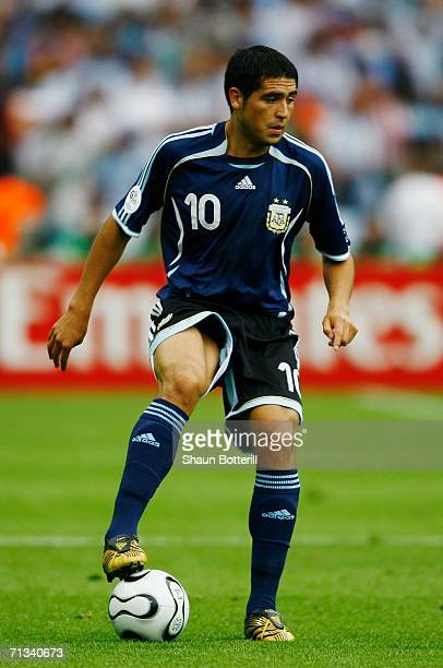 Juan Riquelme of Argentina in action during the FIFA World Cup Germany 2006 Quarterfinal match between Germany and Argentina played at the Olympic...