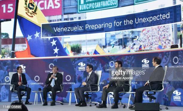 Juan Roberto Vargas, Caracol TV News Director, Carlos Holmes Trujillo, Colombian Foreign Affairs Minister, Carlos Vecchio, Representative of...