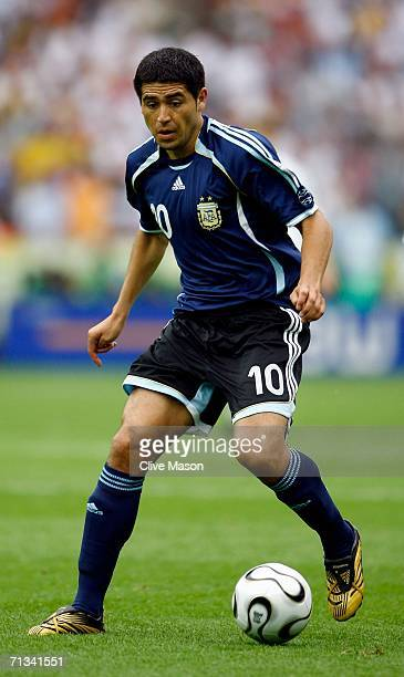 Juan Roman Riquelme in action during the FIFA World Cup Germany 2006 Quarterfinal match between Germany and Argentina played at the Olympic Stadium...